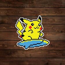 8-Bit Surfing Pikachu (Pokemon) Decal/Sticker
