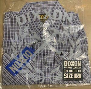Dixxon The Halstead Button Front Shirt Men's Size Small Blue