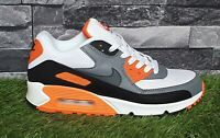 Nike Air Max 90 White Grey Orange Men's Sneakers Trainers 537384-128