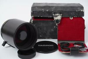 TAMRON SP 500mm 1:8 reflex lens with a nikon F mount in case