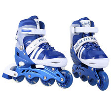 Pair Unisex Adult Kid Adjustable Inline Skates Roller Blades Size S-L Breathable
