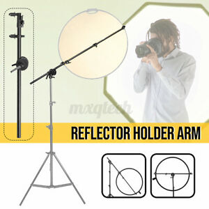 Reflector Holder Arm Bracket Reflector Support Fixing Rod with Self-locking Clip