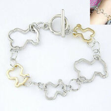Fashion Cartoon Bears Bangle Animal Chain Bracelet Jewelry Women Lady Girl