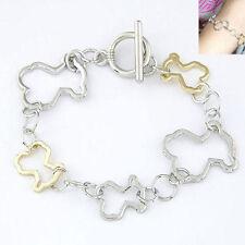 Fashion Cartoon Bears Bangle Animal Chain Bracelet Jewelry Women Lady Girl