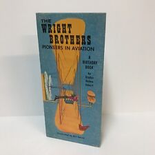The Wright Brothers Pioneers In Aviation Birthday Book Gibson Greeting Card VTG