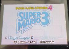 Super Mario Advance 4 | Super Mario Bros 3 | Nintendo Game Boy Advance | DS