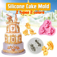 3D Angel Silicone Mold Fondant Mold Chocolate Mould for Decorating Cakes Tool