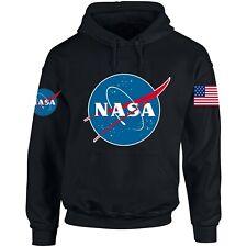 NASA ASTRONAUT USA FLAG PRINT Pocket AMERICAN Logo Hoodie Men Women Unisex N3