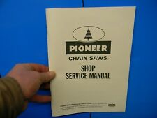 PIONEER CHAINSAWS SHOP SERVICE MANUAL ------------------- MAN 132