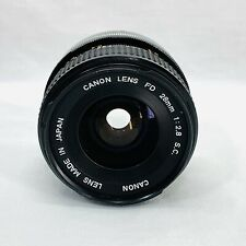 Canon 28mm f2.8 SC Manual Camera Lens Made In Japan w/o Caps