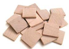 "100 Wooden 1""x1"" x1/8"" Hardwood Straight Edge Square Tiles"
