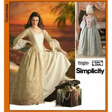 SIMPLICITY 7026 RR SEWING PATTERN WOMEN'S COSTUME BAROQUE MEDIEVAL AGES DRESS