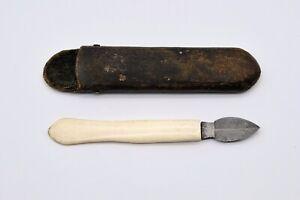 Vintage/Antique 19th Century Arrow Head Blade Ink Scrapper/Eraser? Fleam? Knife