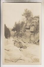 VINTAGE RPPC - THE GORGE - WEST CHESTERFIELD MASSACHUSETTS