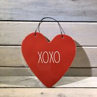 Rae Dunn XOXO Hanging Heart Shaped Wall Plaque/Sign ~ Red Ceramic *HTF* ❤️