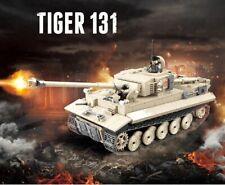 1018 Pcs Military German Tiger 131 Tank Building Blocks Legoed Army WW2 War WOT