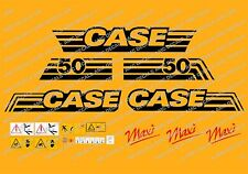 CASE CX50 MAXI MINI DIGGER COMPLETE DECALS STICKER SET