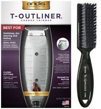 ANDIS T-OUTLINER Trimmer #04710 Professional Barber Authorized ScalpMaster Brush