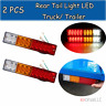 2x Rear Tail Reverse LED Car Truck Trailer Light Stop Brake Turn Signal Lamp 12V