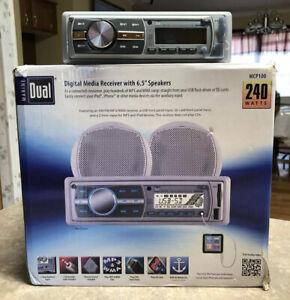 "Boat MP3 Radio Marine Dual Digital Media Receiver with 6.5"" Speakers"