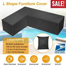 Waterproof Furniture Cover L Shape Patio Corner Outdoor Garden Sofa Protect New
