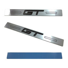 (2pc) 05-14 Mustang GT Logo Door Sill Show Quality Chrome Finish Sills