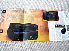 Marantz 1997 DVD-player / S-VHS VCR / tuner-pre-amp / power amplifier brochure