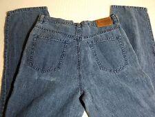 LAUREN RALPH LAUREN Woman's Petite 100% Linen Blue Jeans SZ 8P Denim