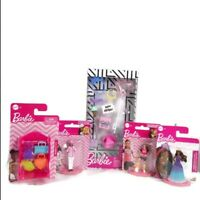 Barbie Mini Collectibles And Accessories 5 Pc Set NEW -Princess Chef Soccer Bday