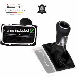 ICT gear shift knob gaiter boot leather frame Mercedes-Benz SLK R171 silver-grey