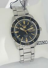SEIKO 5 Automatic Sports SNZH57K1 Black dial 23 Jewels 100m CAL 7S36 New w box