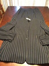 Womens Jones New York Petities Navy Blue Pin Striped Pant Suit Size 14p