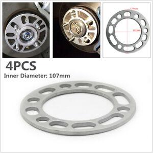 4PCS 6MM Car Hub Wheel Spacers Adaptor Widen Shims Plate 5/6 Stud Brake Caliper