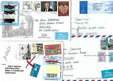 Israel Seven Airmail Covers sent to the US $34.95 SCV