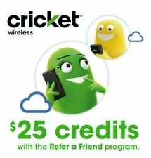 FREE $25 Cricket Wireless Referral Credit + $20 Bonus & $5 Cashback