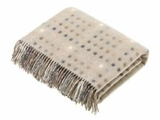 Bronte by Moon Multispot Natural Throw 100% Wool British Made