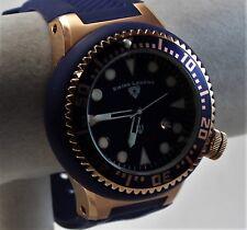 Swiss Legend Neptune Men's Watch, Stark Blue/Goldtone w/ Blue Silicone Strap