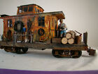 Logging Caboose - also used as maintenance car - custom weathered - G scale