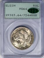 1936 50c Elgin PCGS MS64 *CAC-Verified* Silver Commemorative Half, OGH Rattler