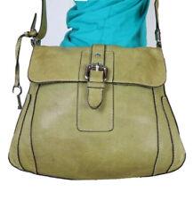 FOSSIL Medium Green Leather Crossbody Shoulder Hobo Tote Satchel Purse Bag