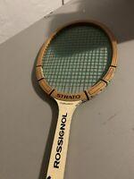 VINTAGE RossignolStrato Tournament wooden tennis racket *L@@K*