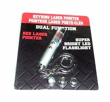 Greenbrier KeyRing Red Laser Pointer With Super Bright Led Flashlight NIP