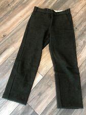Vintage Men's Codet Green Flat Heavy Wool Pants Bibs Size 32 x 33 Excellent
