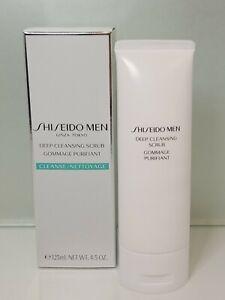 Shiseido Men Deep Cleansing Scrub 125ml/4.5oz New in Box with sticker Seal
