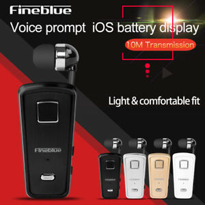 FineBlue F980 Wireless Bluetooth 4.0 Headset Business Earphone Vibrating Clip on