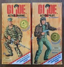 Lot of 2 G.I. Joe WW II Commemorative Figures - Action Marine and Action Pilot
