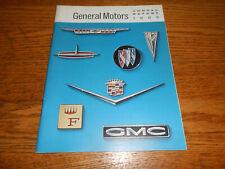 1962 GENERAL MOTORS ANNUAL REPORT / '62 GM BROCHURE / 1963 Cars Trucks & MORE