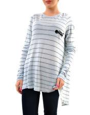 Wildfox Damen Lisa Tee Little Happy Sweatshirts Blau Größe S UVP € 76 BCF69