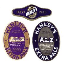 Two (2) different HANLEY'S EXTRA PALE ALE beer labels from RHODE ISLAND !!