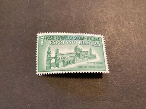Italian Social Republic (1944) Scott E3 Palermo Duomo Special Delivery Stamp MH